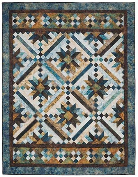 Smokey River Quilt Pattern by Smokey River Blue Planet Quilt Kit Keepsake Quilting