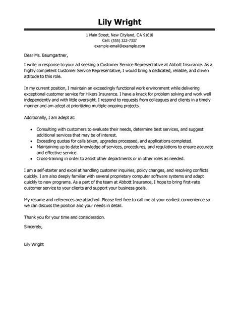 Sle Cover Letter For Patient Service Representative by Customer Service Representative Resume With No