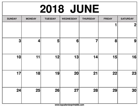 free june 2018 calendar printable blank templates word pdf 2018