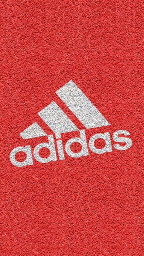 adidas glow wallpaper bright red texture adidas logo iphone wallpaper color