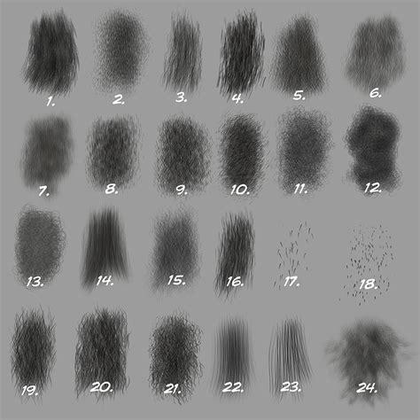 brushes photoshop custom photoshop brushes set 5 directional fur brushes
