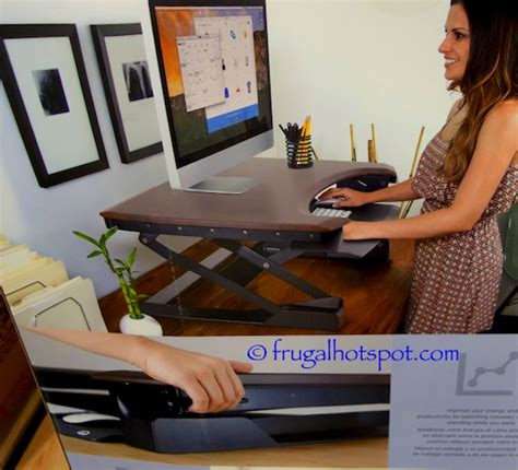costco standing desk costco ergotron home workspace lift35 adjustable height
