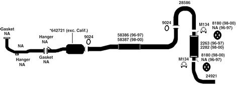 toyota rav4 exhaust system diagram toyota rav4 exhaust diagram from best value auto parts