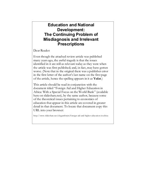 thesis on education and development education and national development essay review