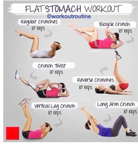 flat stomach workout exercising at home