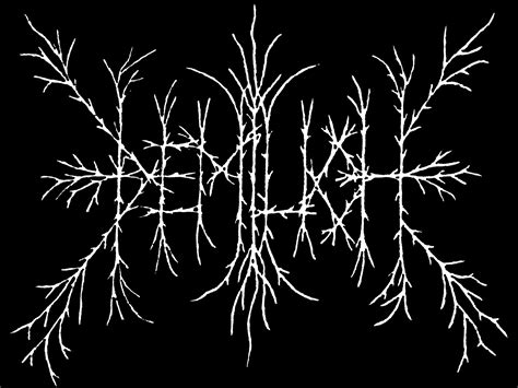 metal logo the and total illegibility of metal logos