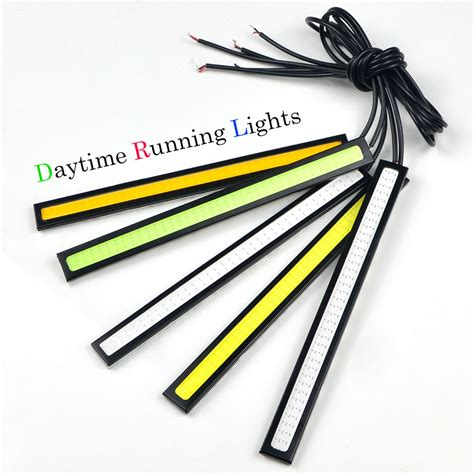 1pcs 17cm 12v cob led drl daytime running light car lights