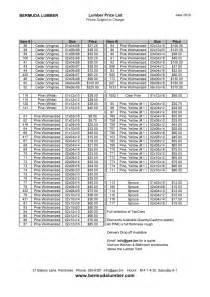 lumber price list price lists bermuda lumber company