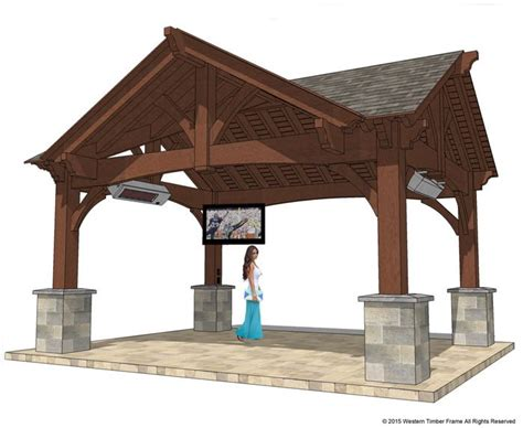 Hip Roof Pavilion Plans 22 X24 Hip Roof Pavilion W Integrated Self Contained