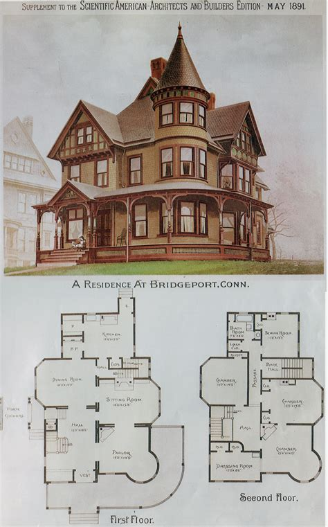 Victorian House Drawings by House Plans Victorian Mini