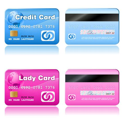 Template Credit Card Credit Card Vector Template Set 04 Vector Card Free