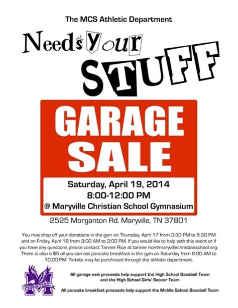 Typical Garage Sale Prices by 187 Garage Sale Fundraiser For Maryville Christian School
