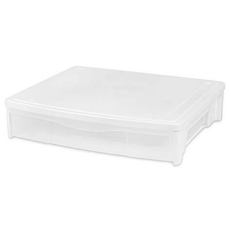 bed bath and beyond under bed storage iris 174 underbed storage drawers in white set of 3 bed bath beyond