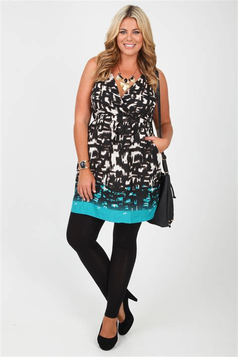 Dresss Sleeveless Tribal Babyterry All Size Modis black teal tribal print cross front sleeveless