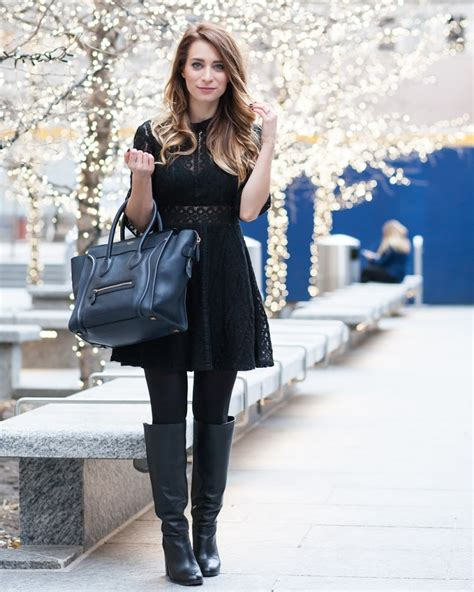 Dress Ootd ootd black lace dress c 233 line luggage tote la