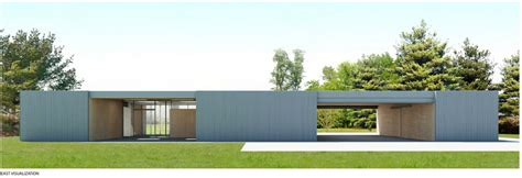 Maintenance Shed by Fresh Ispaceship Renderings Visualize Visitor Reception