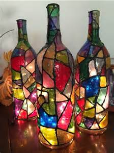 42 decoration ideas for diy lamps and lights from glass