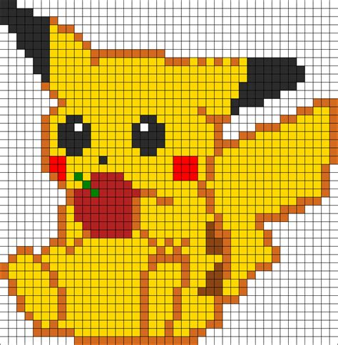 pikachu perler bead template pikachu perler bead pattern bead sprites characters