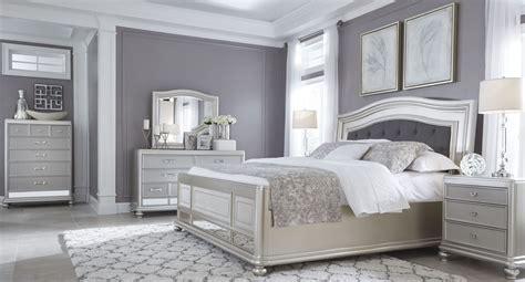 coralayne silver queen panel bed  ashley