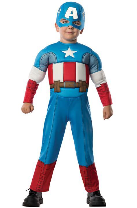 Costum Captain America deluxe captain america toddler costume purecostumes