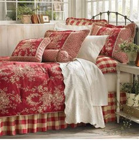 red toile bedding brand new queen size sherry kline comforter waverly french