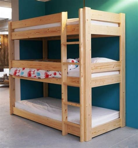 Three Bunk Bed Design Diy Bunk Bed Plans Bunk Bed Pdf Plans Wooden Plan File Bookcase Unfinished