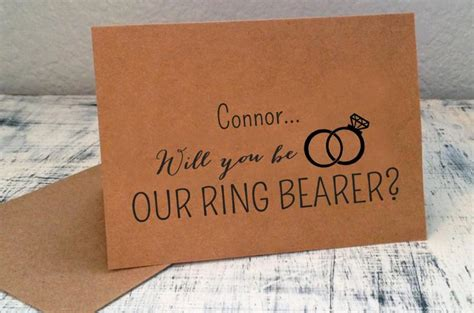 Ring Bearer Card Template by 1 Will You Be Our Ring Bearer Card Personalized With