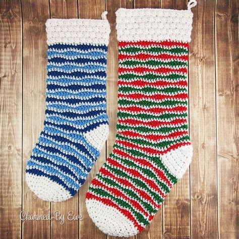 crochet pattern for large christmas stocking 12weekschristmascal jolly holiday stocking free crochet