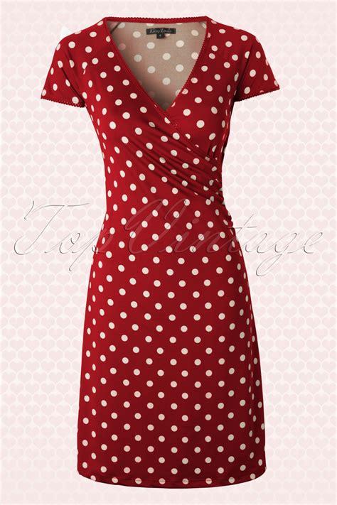 Baju Retro Polkadot 50s polkadot cross dress in lipstick partypolka