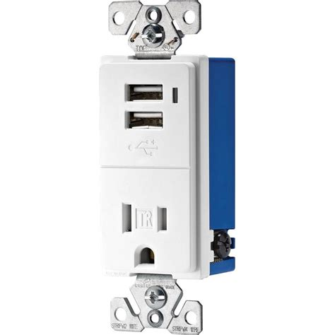 eaton 15 decorator usb charging electrical outlet