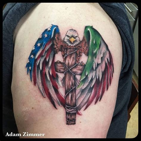cross and flag tattoo 53 coolest must designs for patriotic 4th july tattoos