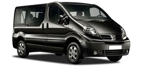 nissan primastar 9 seater car hire or similar 9 car in malaga