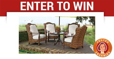 win a patio furniture set julie s freebies