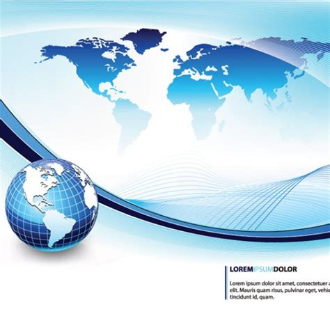 globe enterprise maps application globe wave lines abstract background vector maps