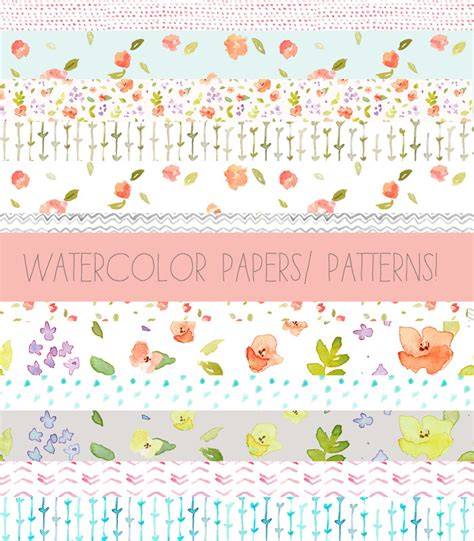 watercolor pattern download watercolor patterns download includes digital papers