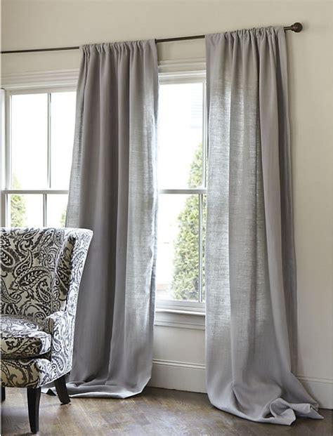 belgian linen drapes belgian linen drapery panel gray 96 quot traditional
