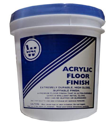 Acrylic Wood Floor Finish by Dodge Packaging Specialties 187 Acrylic Floor Finish 5 Gal Pail
