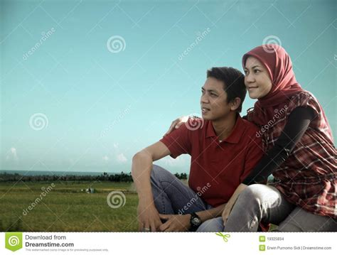 wallpaper couple islamic muslim couple outdoor stock photo image of male