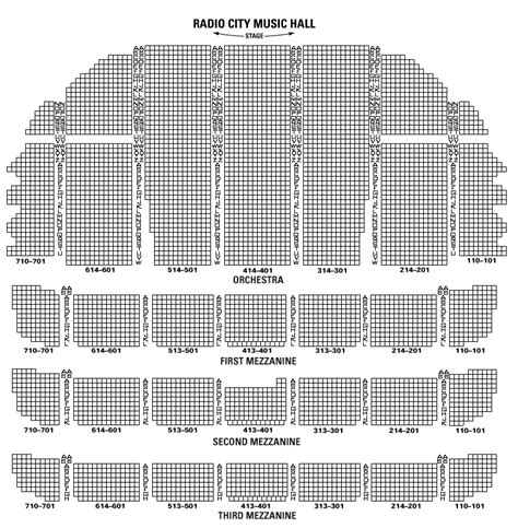 radio city seating plan radio city seating chart