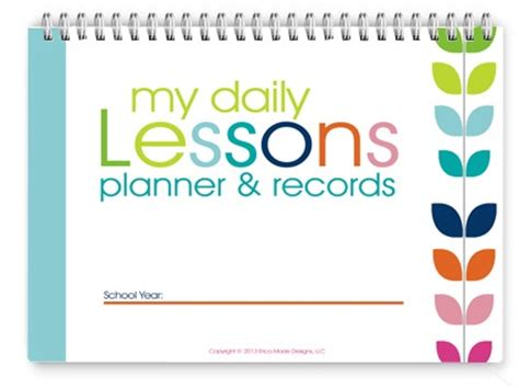 printable homeschool lesson plan book homeschool lesson planner colorful confessions of a