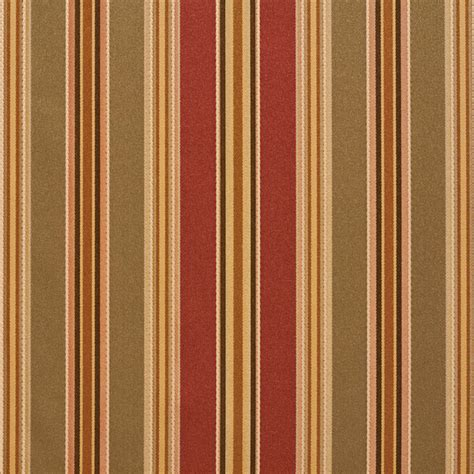 Striped Upholstery Fabrics by Green Burgundy Gold Various Size Striped Faux Silk