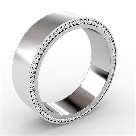 wedding bands with black diamonds