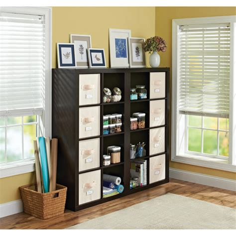 cube room organizer better homes and gardens 16 cube organizer and room divider colors walmart