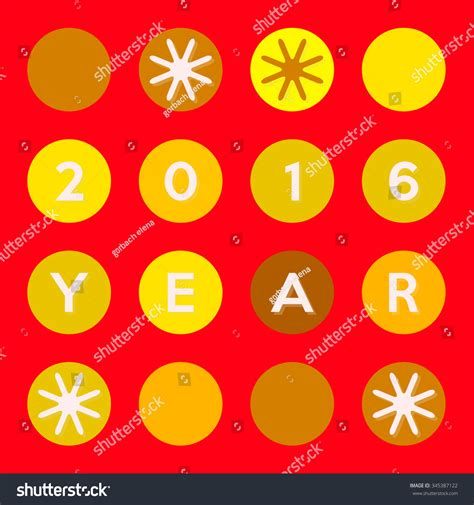 new year colors and gold happy new 2016 year flat design stock illustration
