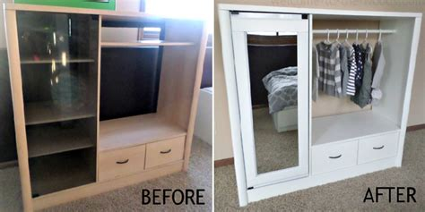 diy entertainment center to closet makeover home design
