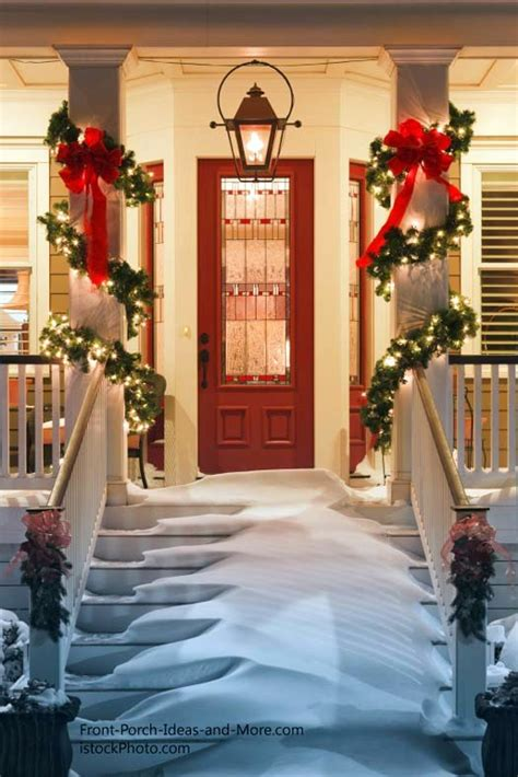 decorations for outside columns on pinterest christmas