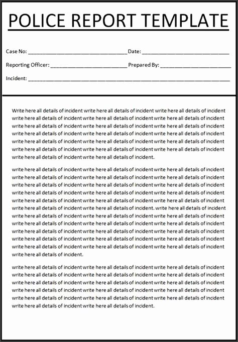 online report layout 6 police report template online sletemplatess