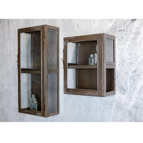 Display Wall Cabinets Glass Door Small Kisari Wall Hanging Storage Cabinet With Glass Door By Nkuku