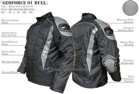 Promo Akhir Tahun Penggorengan Skg Coating jaket motor murah geoforce 01 bull