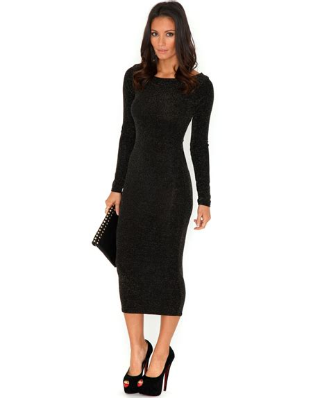 Sleeved Midi Dress black midi dress picture collection dressed up